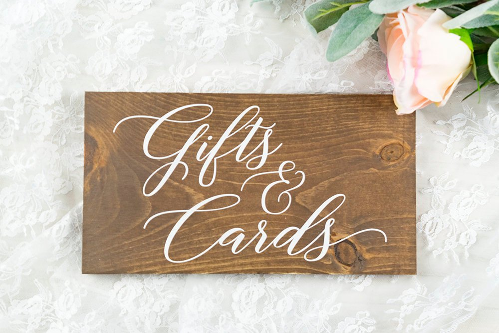 Wooden Rustic Gifts and Cards Sign for Weddings