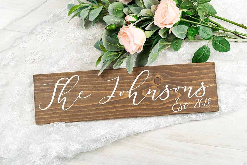 Last Name and Est Year Wedding Sign - 20