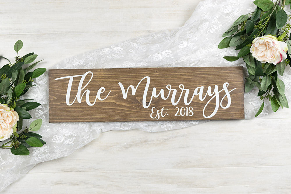 Wedding Last Name Sign with Established Year - 20