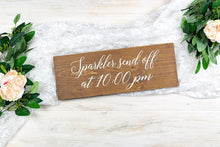 Load image into Gallery viewer, Wedding Sparkler Send Off Sign with Time