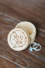 Load image into Gallery viewer, Engraved Mr and Mrs Wooden Ring Bearer Box