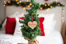 Load image into Gallery viewer, Personalized Heart Last Name Christmas Ornament with Year