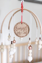 Load image into Gallery viewer, Baby Name and Birthday Christmas Ornament