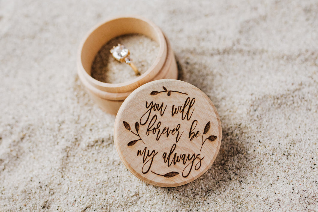 Ring Bearer Box, You Will Forever Be My Always