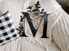 Load image into Gallery viewer, Floral Wooden Monogram Wall Hanging