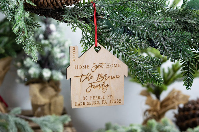 Personalized Home Sweet Home Ornament, Realtor Closing Gift