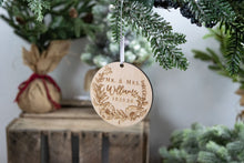 Load image into Gallery viewer, Mr and Mrs Ornament, Last Name Ornament, Wedding Gift for Couple