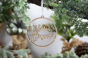 Mr and Mrs Ornament, Newlywed Gift