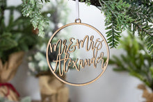 Load image into Gallery viewer, Mr and Mrs Ornament, Newlywed Gift