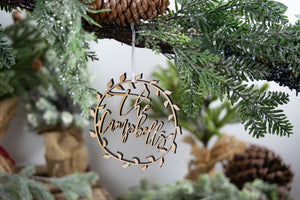 Newlywed Chistmas Ornament, Family Ornament