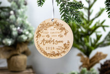 Load image into Gallery viewer, First Christmas as Mr and Mrs Ornament