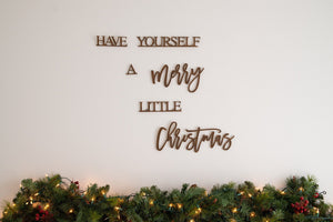Farmhouse Christmas Decor, Have Yourself A Merry Little Christmas Wall Hanging