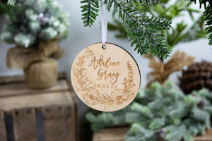 Baby Name Ornament