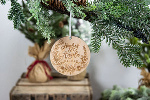 Couple Gifts, Personalized Christmas Ornament