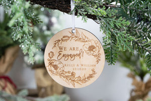 We Are Engaged Ornament