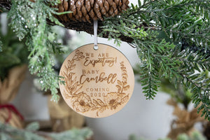 We Are Expecting Ornament, Baby Announcement Ornament