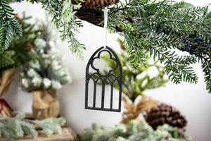 Farmhouse Christmas Ornaments, Arched Window Ornament