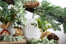 Load image into Gallery viewer, Farmhouse Christmas Ornaments, Arched Window Ornament
