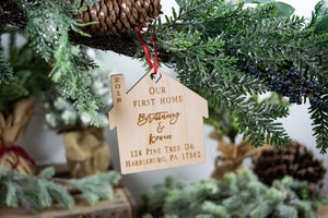 Our First Home Ornament, Housewarming Gift, New House Gift