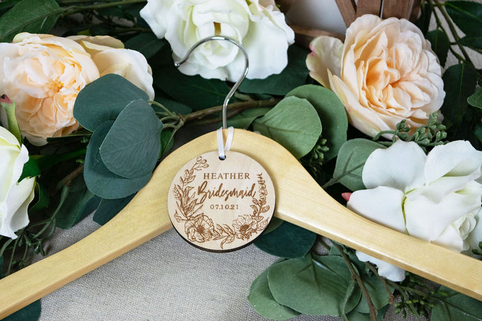 Bridal Party Gift, Wedding Hanger Tags