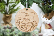 Load image into Gallery viewer, Personalized Last Name Wedding Christmas Ornament - Wedding Gift for Couple