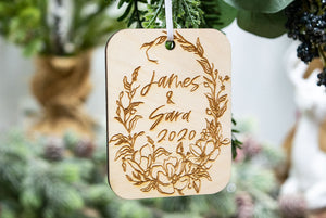Personalized Couple Name Christmas Ornament - Couple Gifts