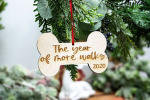 The Year of More Walks 2020 Dog Christmas Ornament, - Dog Mom Gift