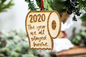 The Year We Stayed Home Toilet Paper 2020 Christmas Ornament, Funny Christmas Gift