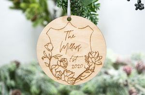 Personalized Last Name Wedding Christmas Ornament - Wedding Gift for Couple