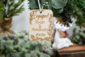Engagement Ornament - Christmas Gift for Engaged Couple