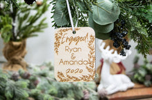 Load image into Gallery viewer, Engagement Ornament - Christmas Gift for Engaged Couple