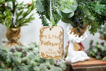 Load image into Gallery viewer, Mr and Mrs Personalized Christmas Ornament - Wedding Gift