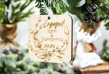 Load image into Gallery viewer, Personalized Christmas Gift for Engaged Couple - Engaged Christmas Ornament