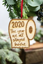 Load image into Gallery viewer, The Year We Stayed Home Toilet Paper 2020 Christmas Ornament, Funny Christmas Gift