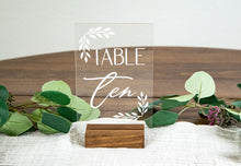 Load image into Gallery viewer, Acrylic Table Numbers with Leaf Corners