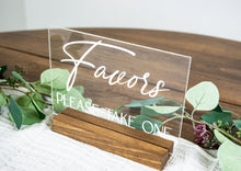 Load image into Gallery viewer, Wedding Favors Acrylic Wedding Sign