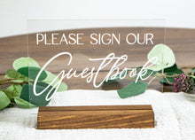 Load image into Gallery viewer, Please Sign Our Guestbook Acrylic Wedding Sign