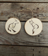 Load image into Gallery viewer, Set of Two Fox Woodland Christmas Tree Ornaments