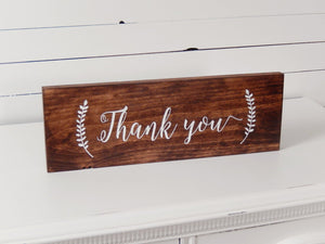 Thank You Sign for Weddings
