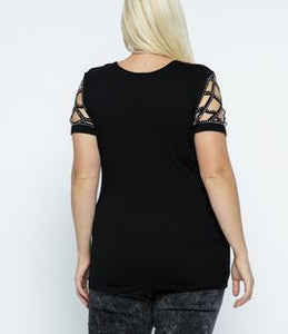 Laser Cut Rhinestone Shirt - MADE IN USA