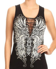 Load image into Gallery viewer, Feather Wing Braided Tank Top