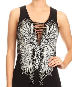 Feather Wing Braided Tank Top