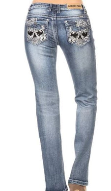 Badass Skull Jeans - Sizes 1 to 25