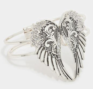 Hinged Angel Wing Bracelet