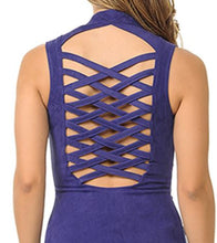 Load image into Gallery viewer, Purple Suede Braided  Vest