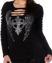 Load image into Gallery viewer, Dark Angel Cut Long Sleeve Shirt