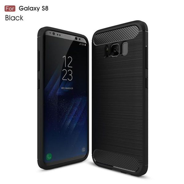 360 Full Protection Carbon Fiber Soft TPU Case for S9 + Free Film