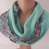 Spring /summer infinity scarf - Mint