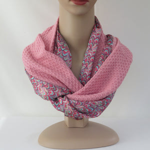 Spring /summer infinity scarf - Salmon