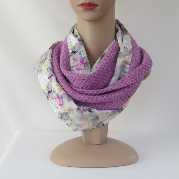 Spring /Summer Infinity Scarf - Orchid